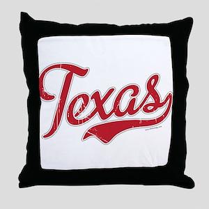 Texas Script Font Vintage Throw Pillow