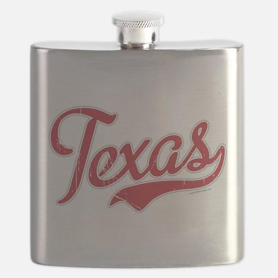 Texas Script Font Vintage Flask