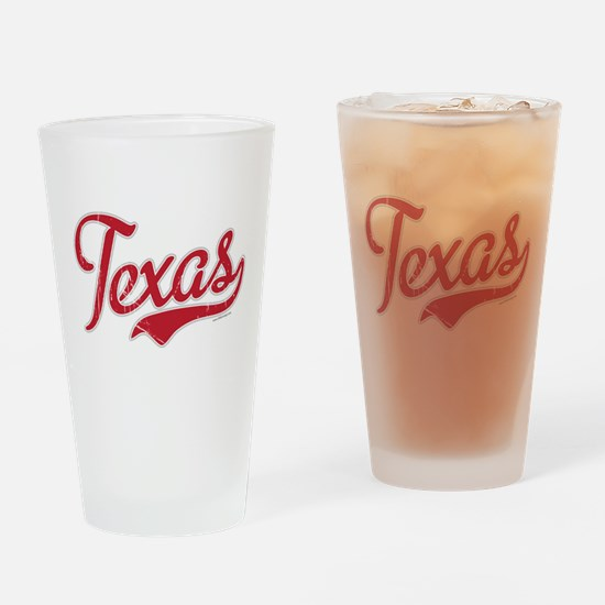 Texas Script Font Vintage Drinking Glass