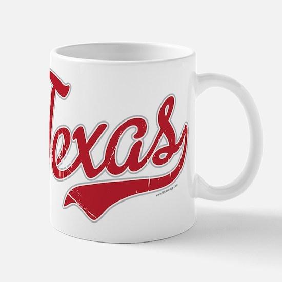 Texas Script Font Vintage Mugs