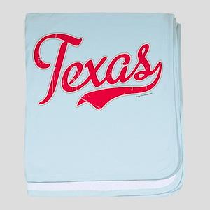 Texas Script Font Vintage baby blanket