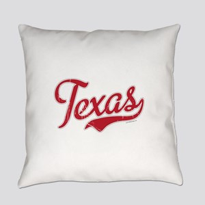 Texas Script Font Vintage Everyday Pillow