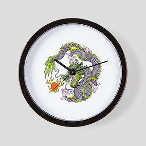 Colorful Chinese Dragon Circle Totem Wall Clock