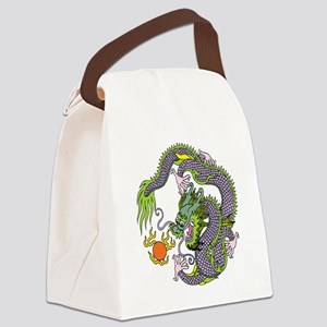 Colorful Chinese Dragon Circle To Canvas Lunch Bag