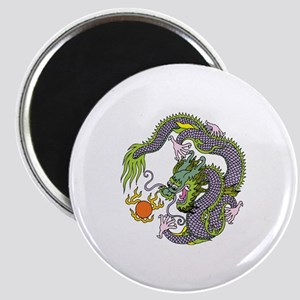 Colorful Chinese Dragon Circle Totem Magnet