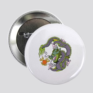 """Colorful Chinese Dragon Circle Totem 2.25"""" Button"""