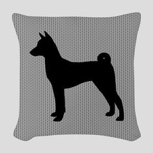 Basenji Silhouette Woven Throw Pillow