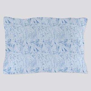 Blue Texture Pillow Case