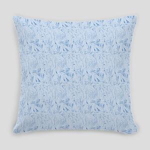 Blue Texture Everyday Pillow