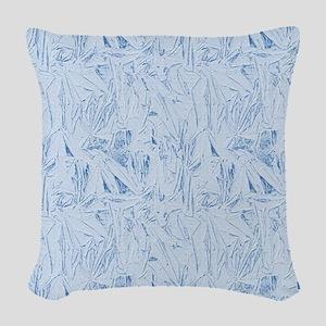 Blue Texture Woven Throw Pillow
