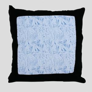 Blue Texture Throw Pillow