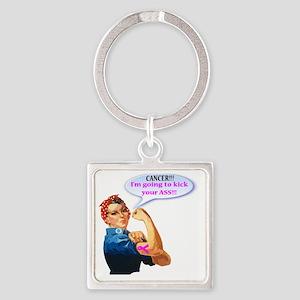Rosie Fighting Cancer Design Keychains