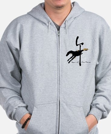 Year of the Horse- Chinese Zodiac Zip Hoodie