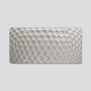Golf Ball Sport Aluminum License Plate