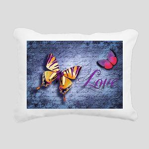 Butterfly Love Rectangular Canvas Pillow