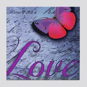 Butterfly Love Tile Coaster