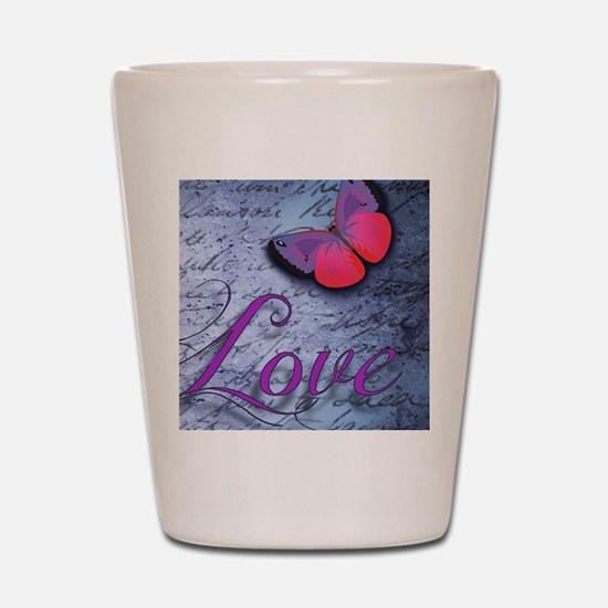 Butterfly Love Shot Glass