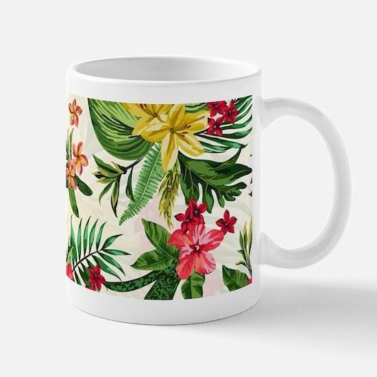 Colorful Exotic Hawaiian Flowers Mugs