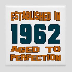 Established In 1962 Tile Coaster