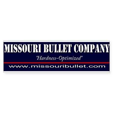 Missouri Bullet Bumper Sticker