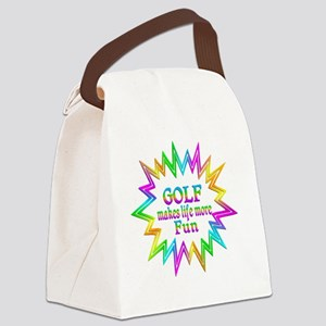 Golf Makes Life More Fun Canvas Lunch Bag