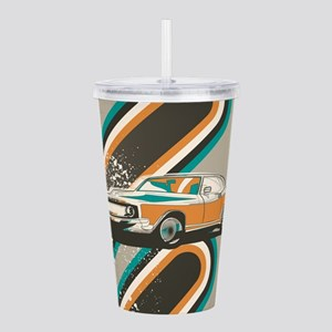 Muscle Car Poster Acrylic Double-wall Tumbler