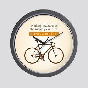 The Pleasure Of Riding A Bicycle Wall Clock