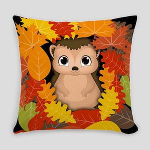 Thansgiving Hedgehog Everyday Pillow