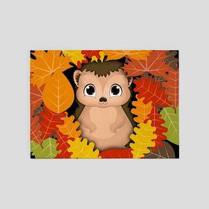 Thanksgiving Hedgehog 5'x7'area Rug