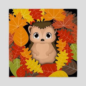 Thanksgiving Hedgehog Queen Duvet