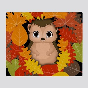 Thanksgiving Hedgehog Throw Blanket