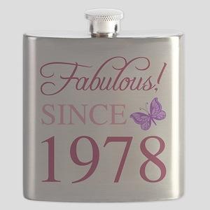 1978 Fabulous Birthday Flask