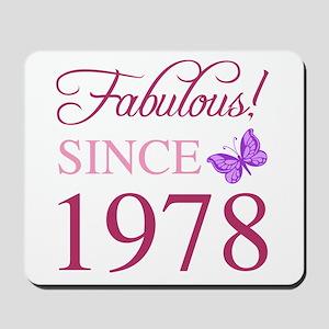 1978 Fabulous Birthday Mousepad