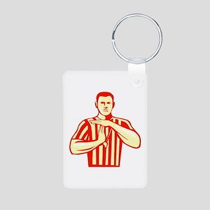 Basketball Referee Technical Foul Retro Keychains