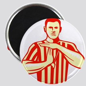 Basketball Referee Technical Foul Retro Magnets