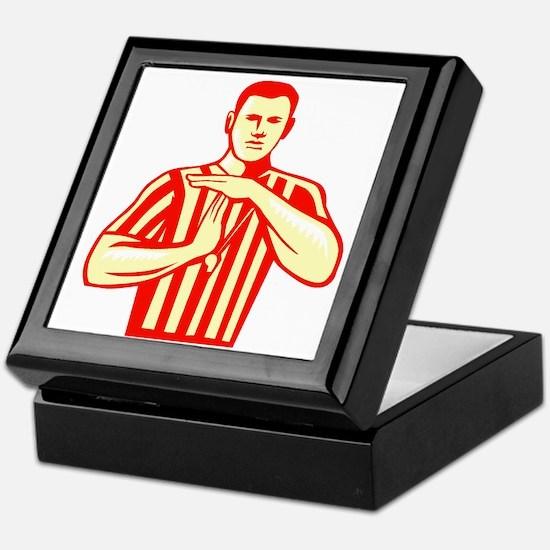 Basketball Referee Technical Foul Retro Keepsake B