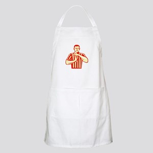 Basketball Referee Technical Foul Retro Apron