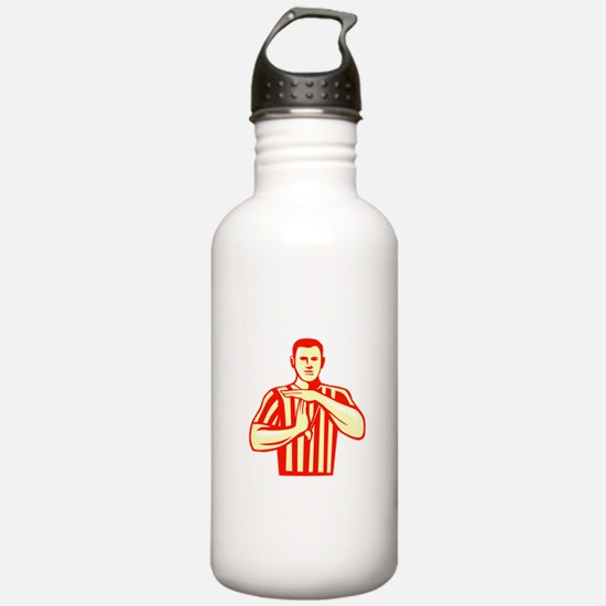 Basketball Referee Technical Foul Retro Water Bott