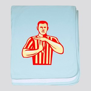 Basketball Referee Technical Foul Retro baby blank
