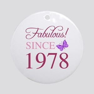 1978 Fabulous Birthday Round Ornament