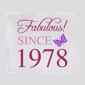 1978 Fabulous Birthday Throw Blanket