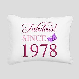 1978 Fabulous Birthday Rectangular Canvas Pillow