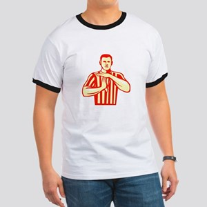 Basketball Referee Technical Foul Retro T-Shirt