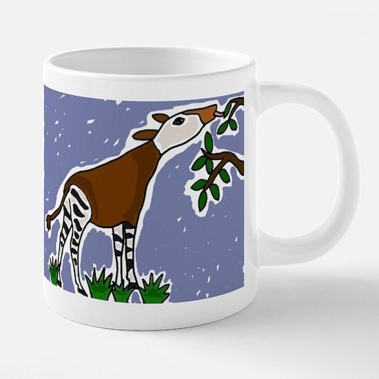 Artistic Okapi Design Mugs