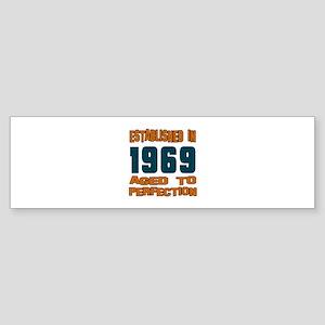 Established In 1969 Sticker (Bumper)