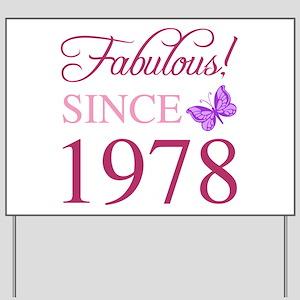 1978 Fabulous Birthday Yard Sign