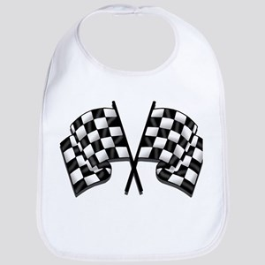 Chequered Flag Cotton Baby Bib