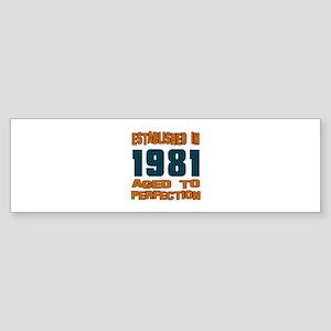 Established In 1981 Sticker (Bumper)