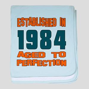 Established In 1984 baby blanket