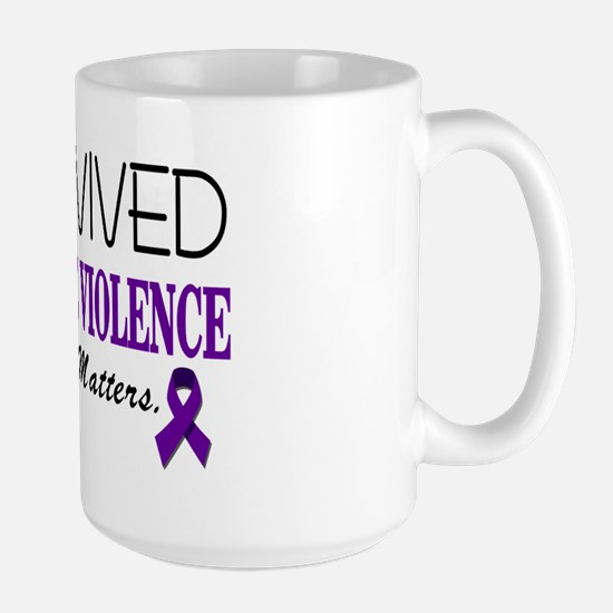 I Survived Domestic Violence-01 Large Mug